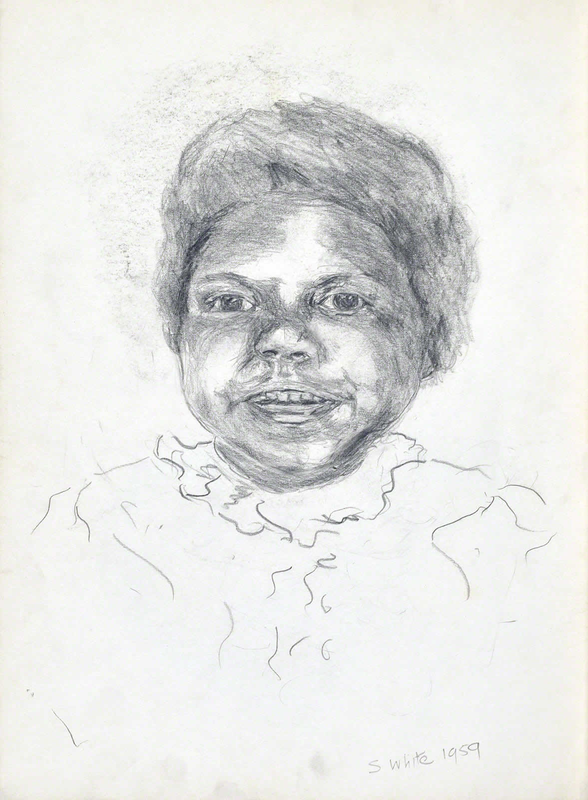 Aboriginal girl by Susan Dorothea White