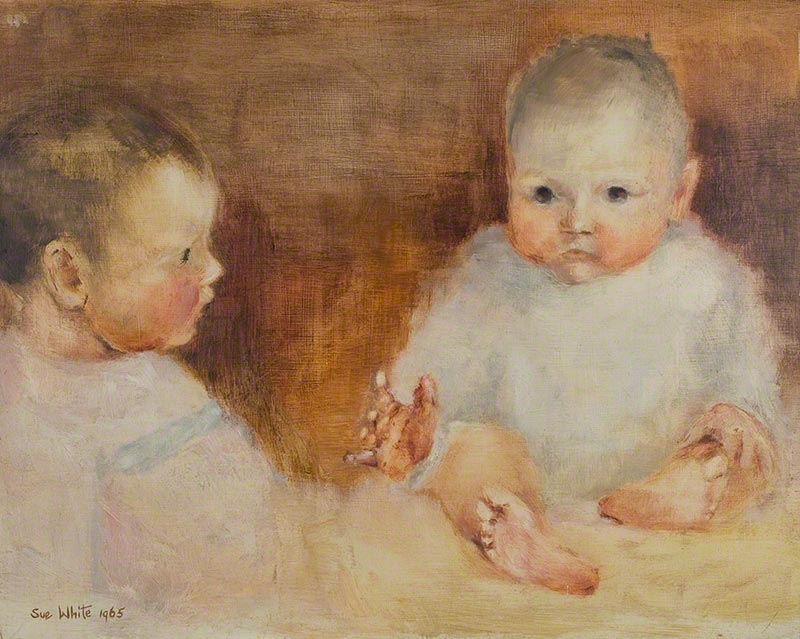 Babies: Michaela and Paul by Susan Dorothea White