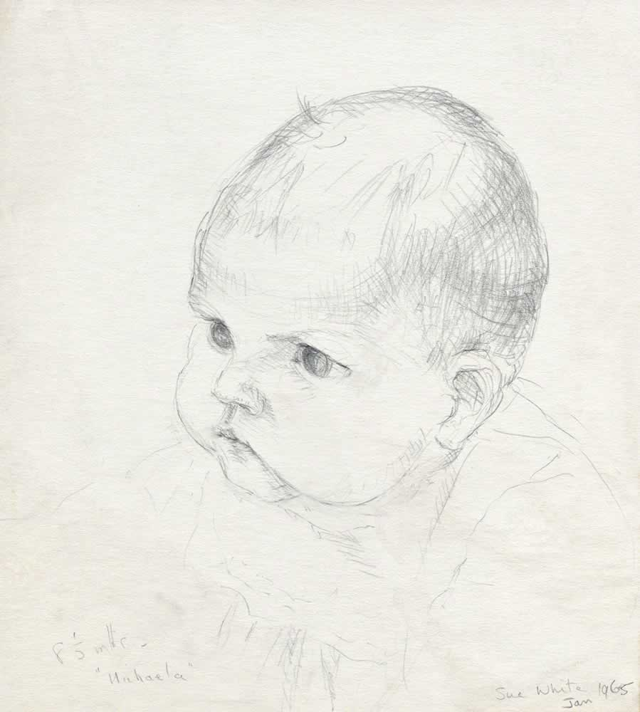 Baby Michaela at 8 months by Susan Dorothea White