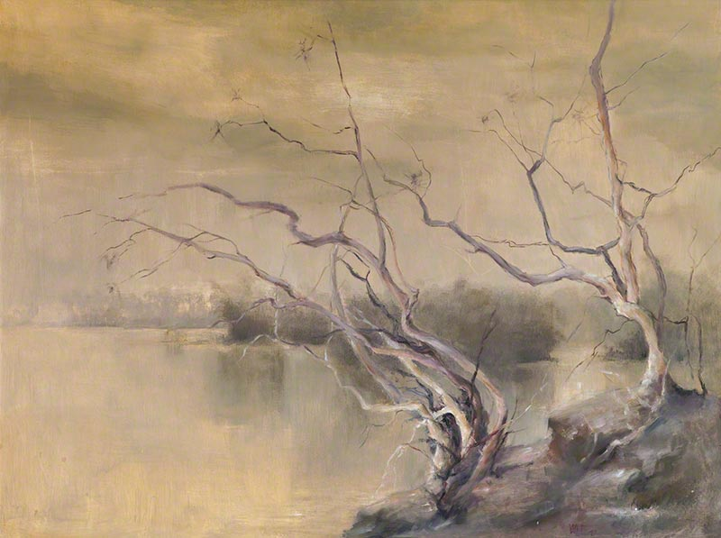 Estuary in ochre by Susan Dorothea White