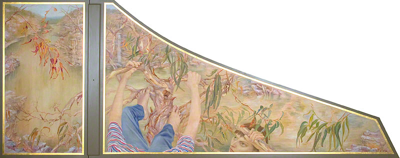 Harpsichord: Paintings and Carved Rose  by � Susan D White