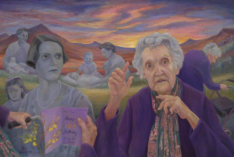Mum's Centenarian Sunset by Susan Dorothea White