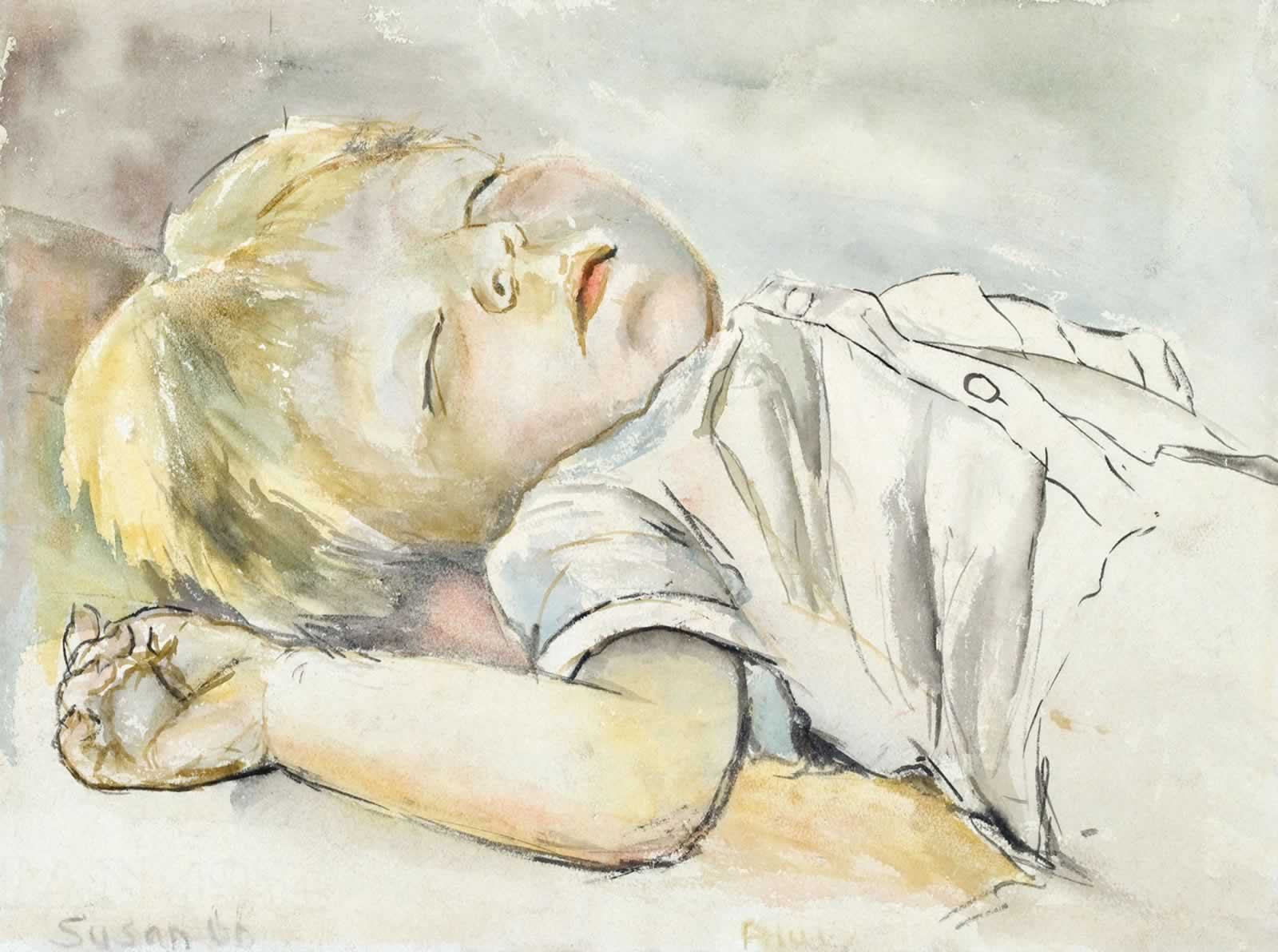 One-year-old Paul, sleeping by Susan Dorothea White