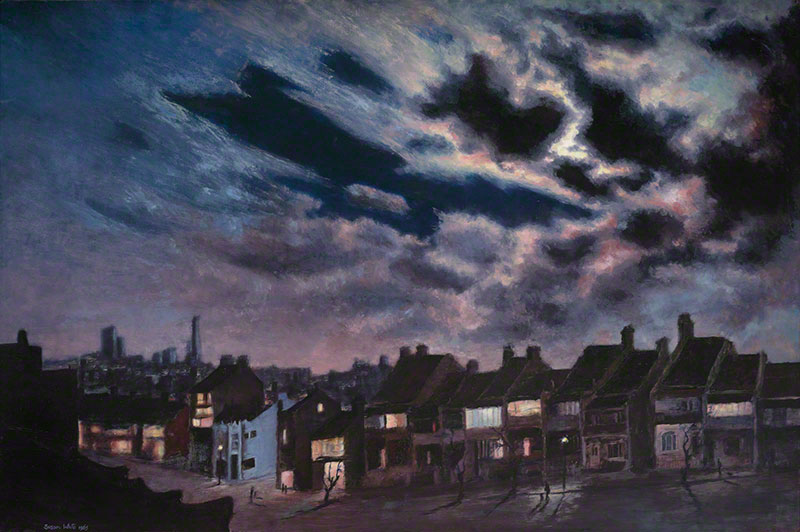 Paddington Street by night by Susan Dorothea White