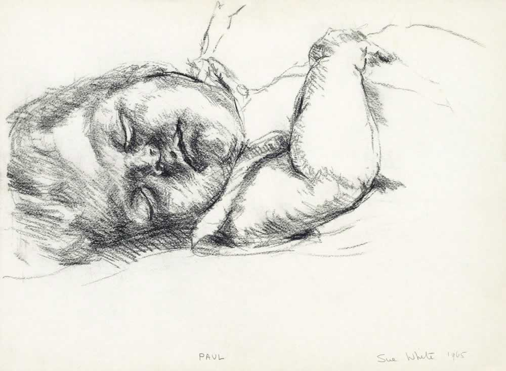 Sleeping child - head on right side by Susan Dorothea White