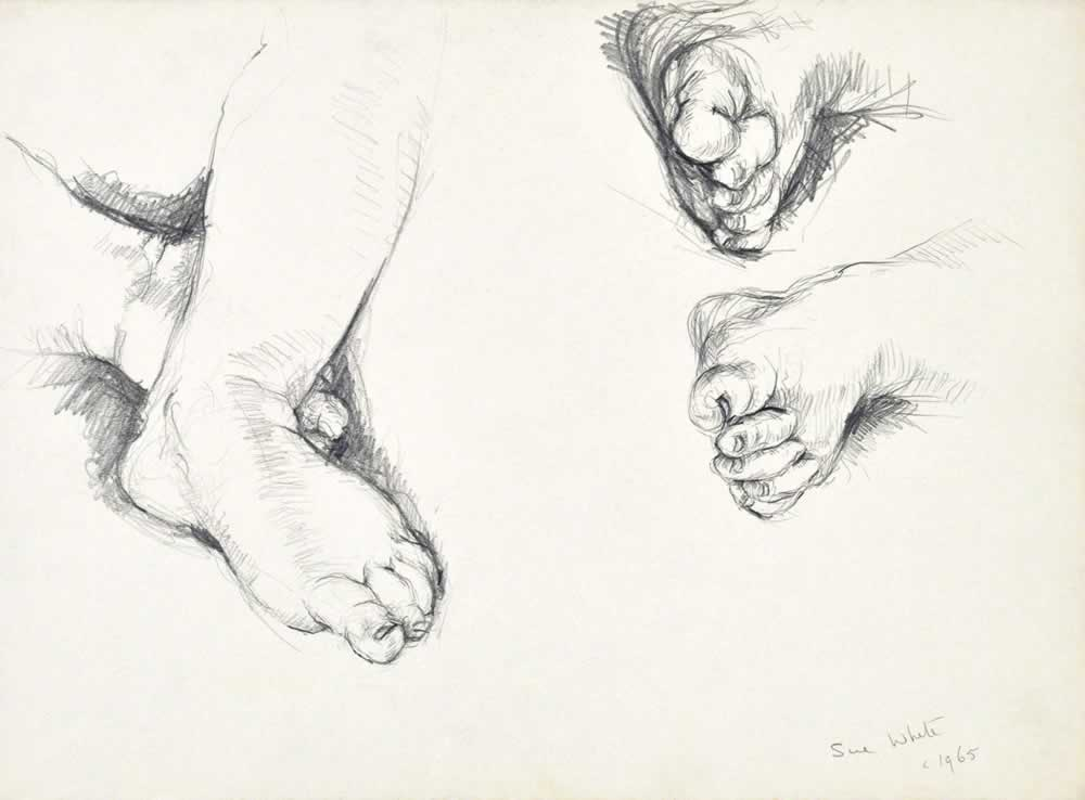 Study of baby's feet by Susan Dorothea White