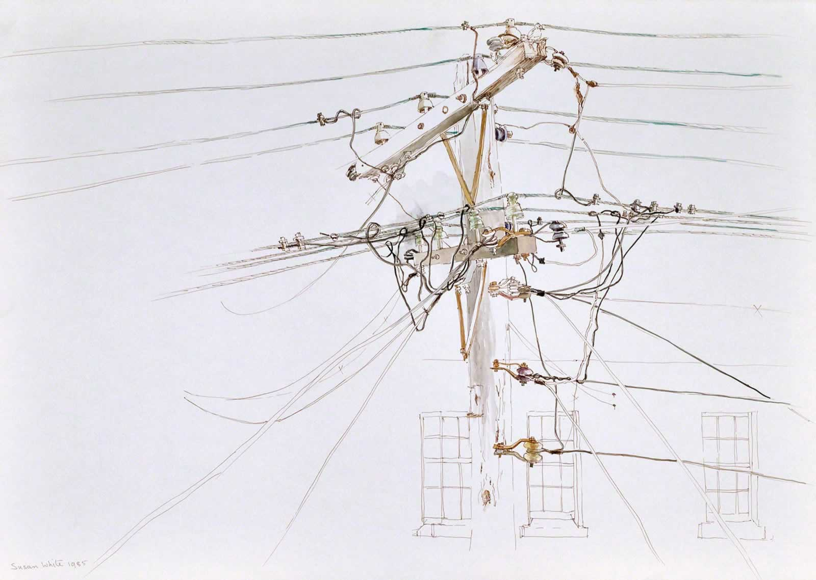 Telegraph pole, Kent St, Miller's Point, Sydney by Susan Dorothea White
