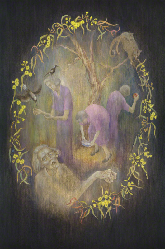 The Life and Death of St. Francis of Australia (painting) by Susan Dorothea White