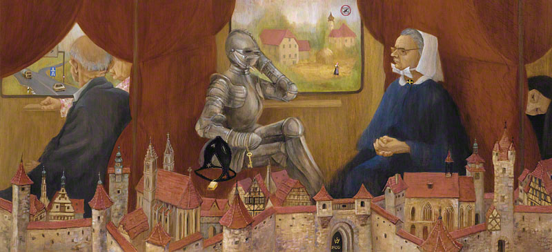 The Nun and The Knight on the Train to Rothenburg by Susan Dorothea White