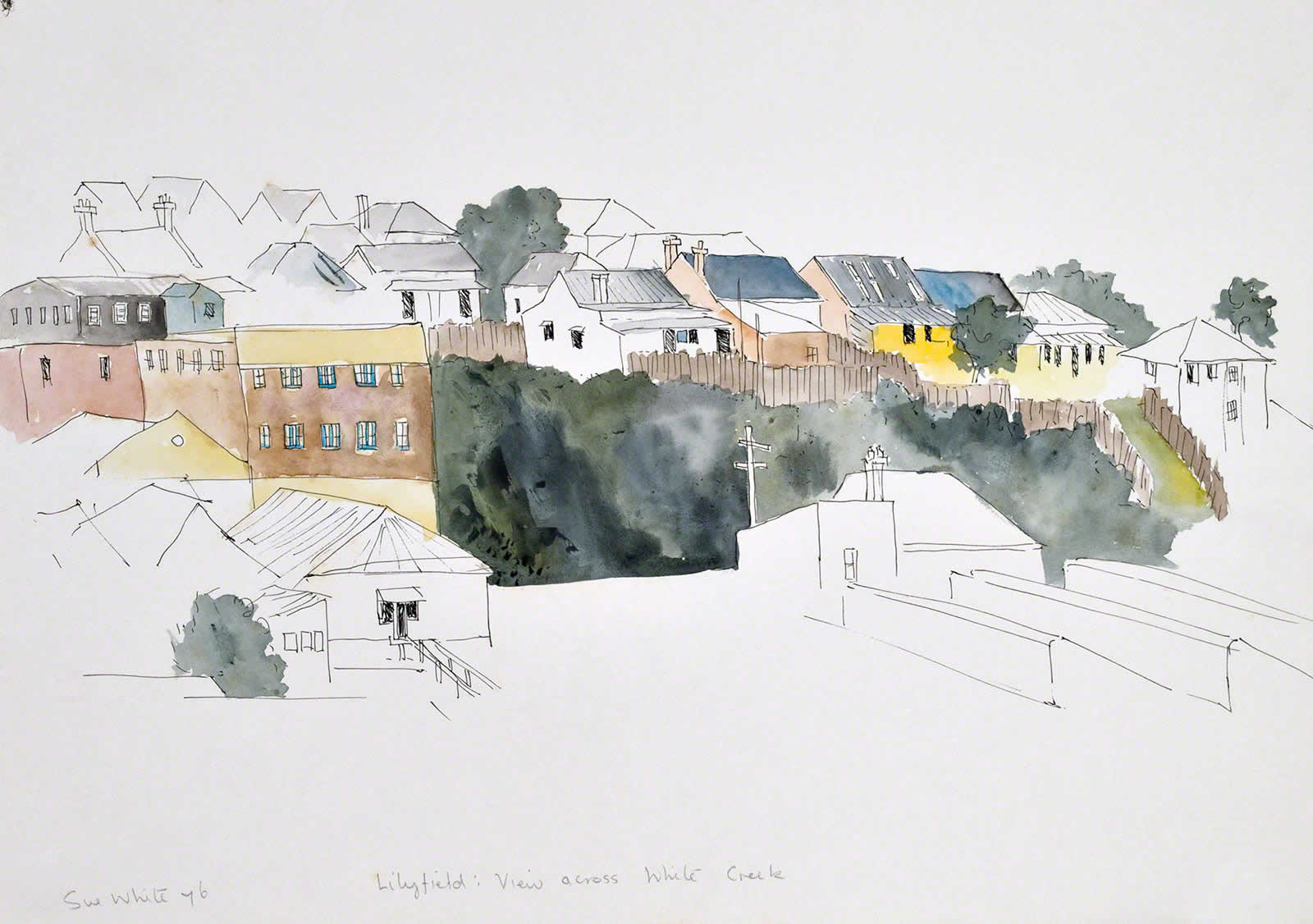 View of Lilyfield from Annandale, across White's Creek by Susan Dorothea White