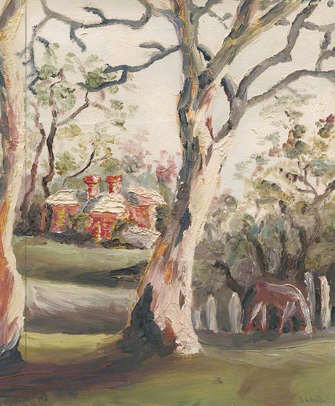 View of the Simpson's from Ivymeade: gum and horse by Susan Dorothea White