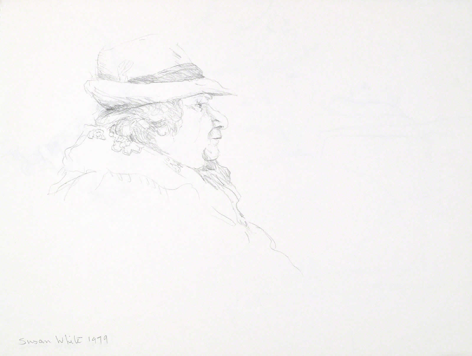 Woman in Bavarian hat by Susan Dorothea White